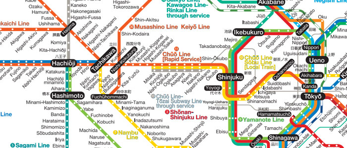 Tokyo maps of subway train and some cities tokyo life blog jr east line rail map sciox Image collections